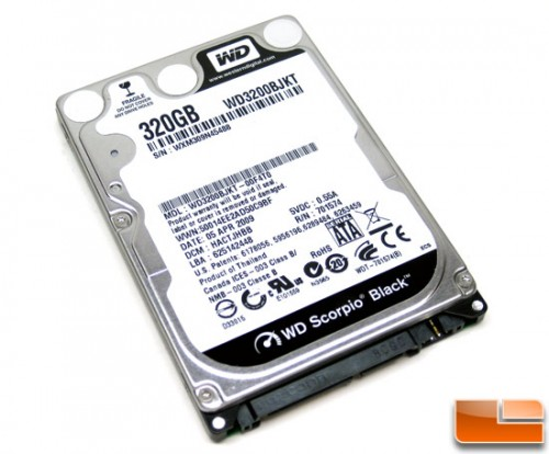 HDD Laptop 320GB Sata 16MB Scorpio Black