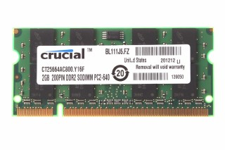 Ram Laptop Crucial DDR2 2G PC2-6400s